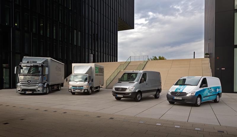 Noile vehicule de distribuţie pe distanţe scurte de la Mercedes-Benz