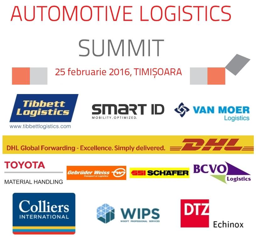 Mai puțin de o lună până la Automotive Logistics Summit 2016