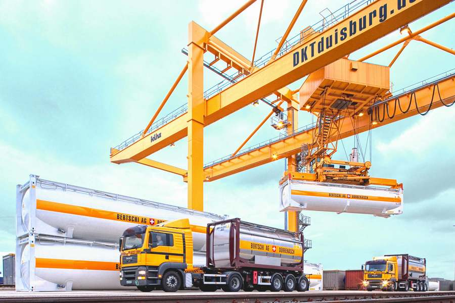 90% din volumele Bertschi în România, transportate intermodal