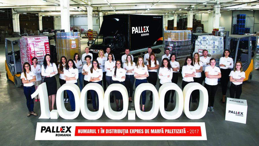 1 milion de paleți transportați prin rețeaua Pall-Ex