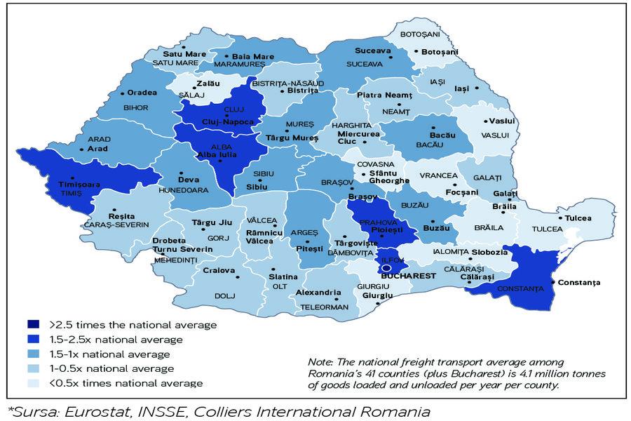 Constanţa, Alba și Timiș, puncte cheie pentru mărfurile transportate rutier