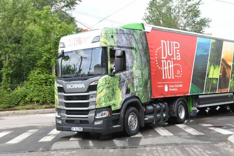Coca-Cola HBC România va utiliza un camion CNG pentru transportul între depozite