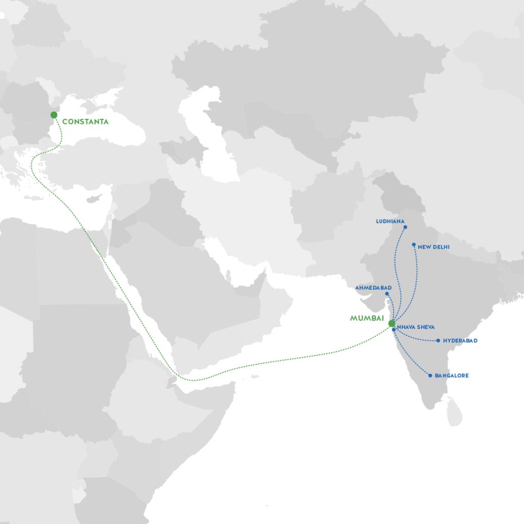 IB Cargo lansează un nou serviciu LCL între Mumbai și Constanța