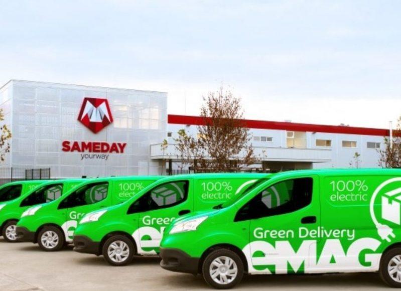 eMag s Sameday lansează livrarea cu automobile 100% electrice