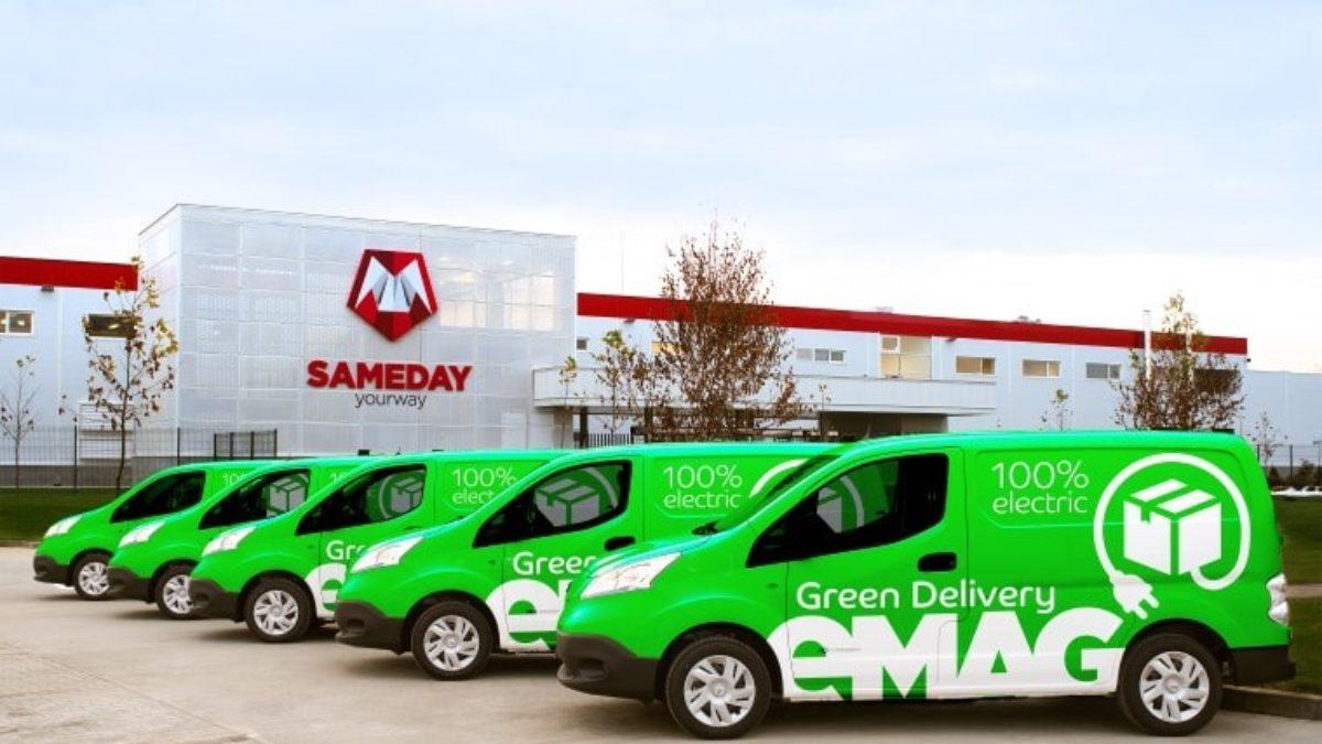 eMAG lansează livrarea cu automobile 100% electrice