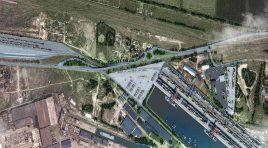 Platforma multimodală a portului Galaţi, legată feroviar