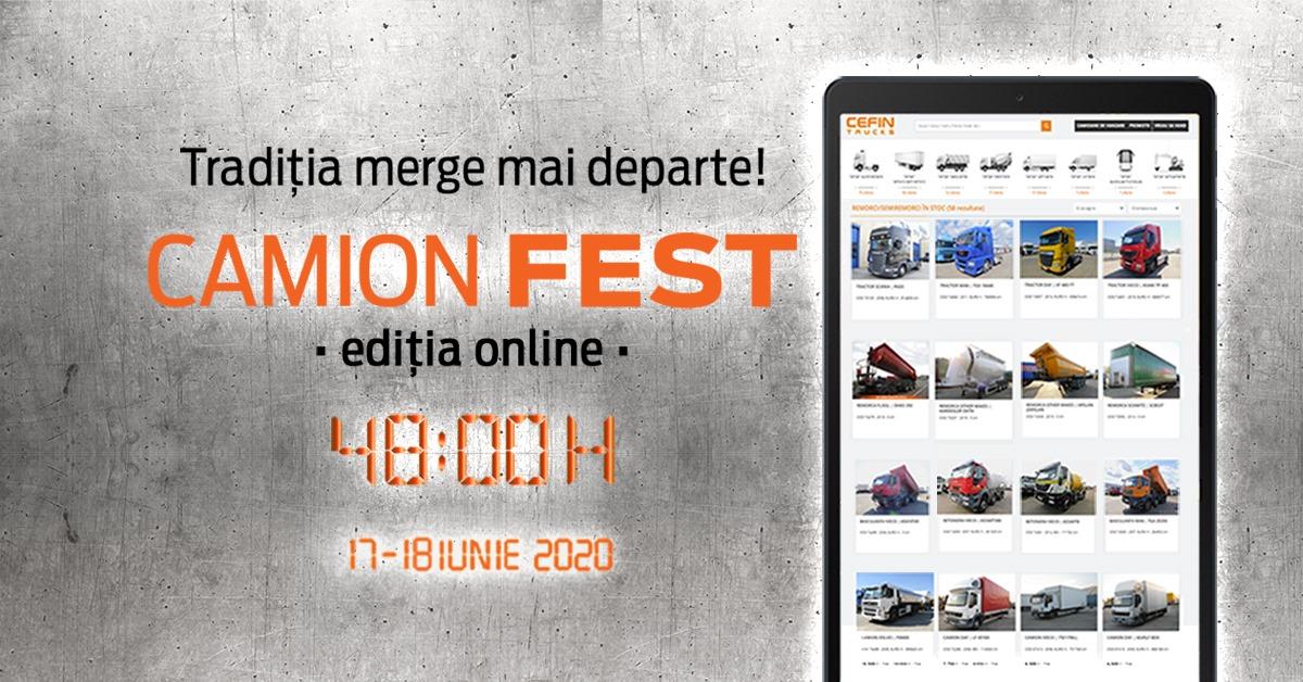 Camion Fest – ediția online 17-18 iunie