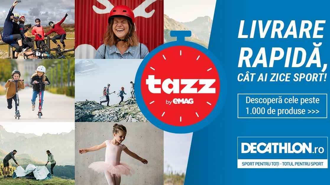 Livrări last mile: Decathlon încheie un parteneriat cu Tazz by eMAG
