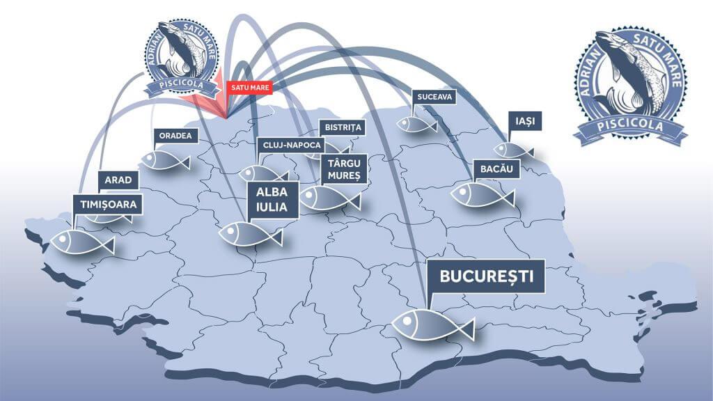 Piscicola se extinde la nivel național cu logistică de livrare proprie