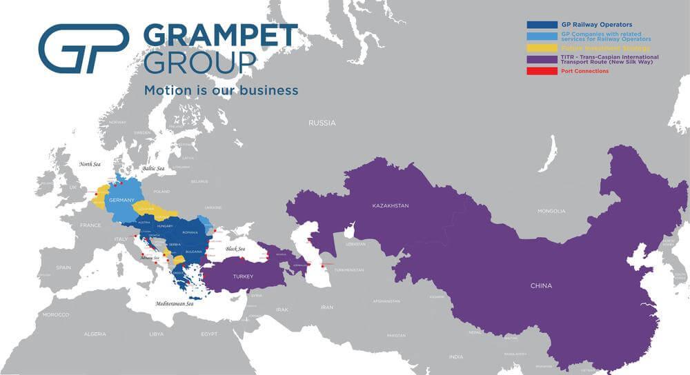 Grupul GRAMPET a lansat activitatea de transport feroviar de marfă în Slovenia