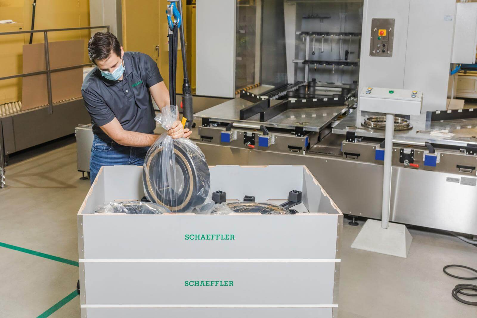 #GreenLogistics: Schaeffler și Flender introduc un sistem de ambalare inovator și ecologic pentru rulmenții de dimensiuni mari
