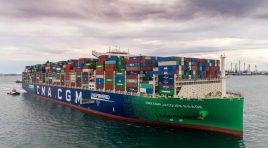 Un nou record pentru CMA CGM Jacques Saade: peste 21.000 containere pline transportate la bordul unei nave