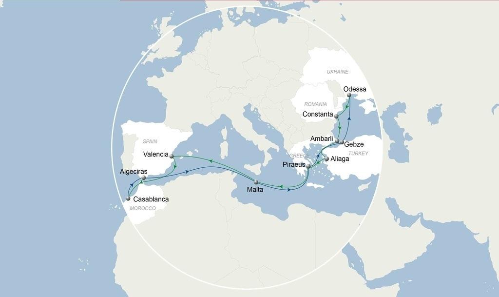CMA CGM îmbunătățește serviciul BSMAR ce conectează Marea Neagră și Turcia cu Maroc