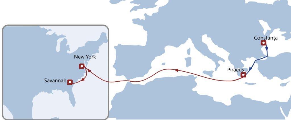 România își intensifică schimburile comerciale cu SUA. Ce servicii maritime conectează cele două destinaţii?