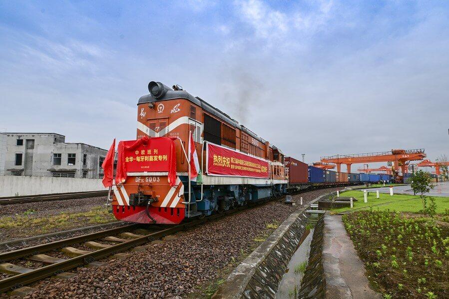 Un nou tren de marfă inaugurat pe ruta China-Ungaria