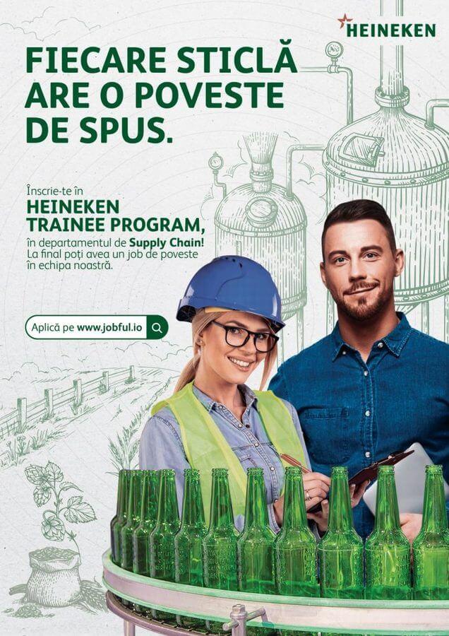 HEINEKEN România lansează HEINEKEN Trainee Program în Supply Chain, dedicat tinerilor absolvenți de studii universitare cu profil tehnic