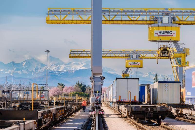 Creștere de 14,5% a traficului intermodal pentru Hupac